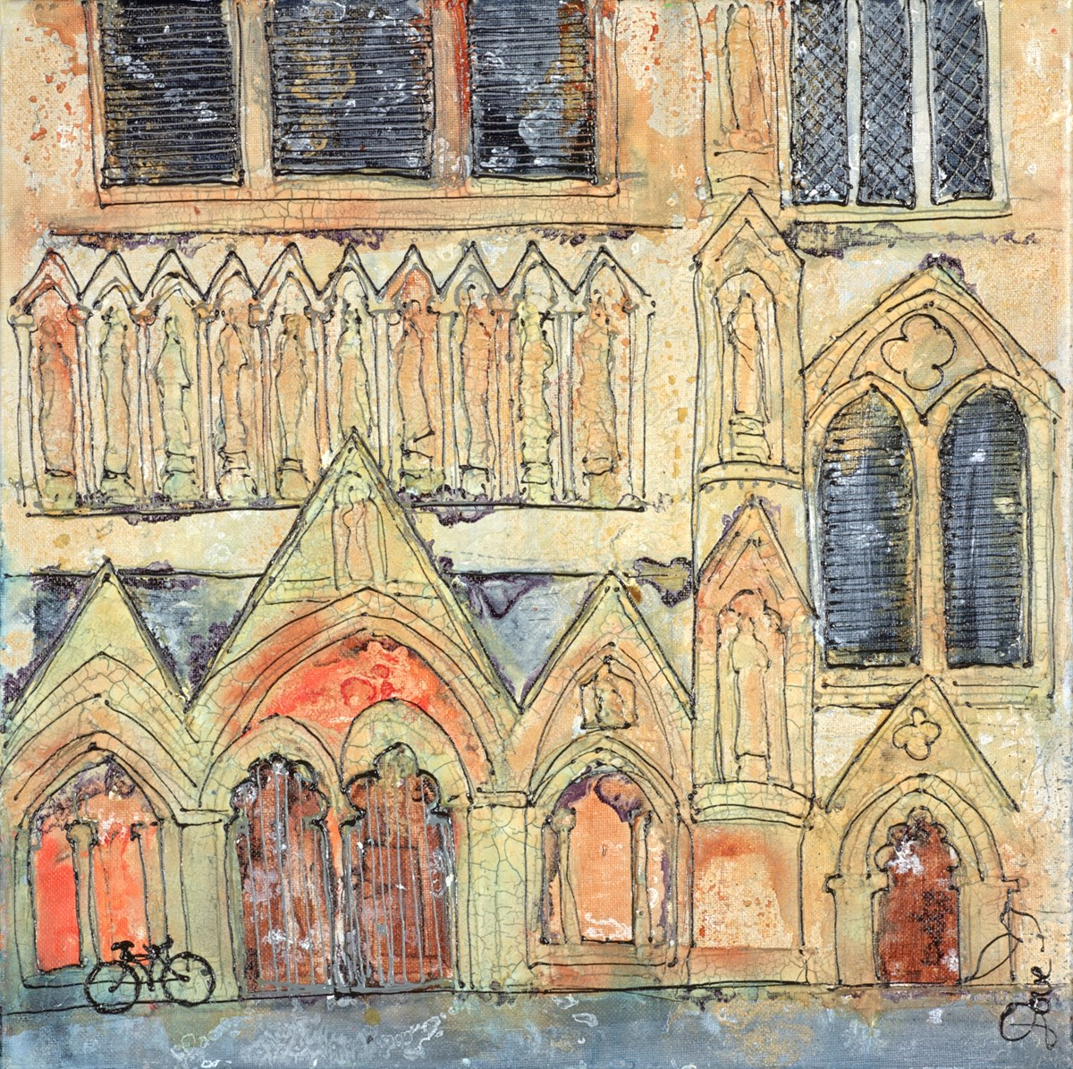 Cathedral Detail by katharine dove -  sized 16x16 inches. Available from Whitewall Galleries